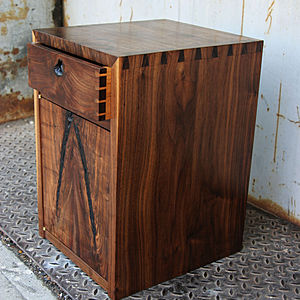walnut burl  nightstands